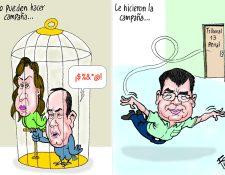 Personajes: Sandra Torres, Alejandro Giammattei y Arnoldo Medrano.