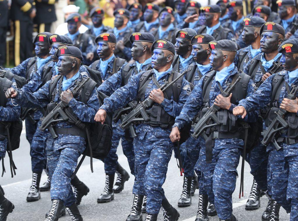Todas las compañías del Ejército participaron durante la conmemoración por el Día del Ejército en Guatemala. Foto Prensa Libre: Esbin García