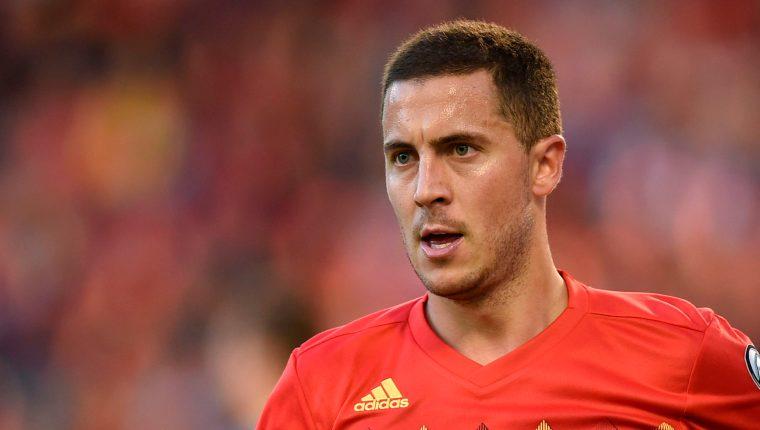 Eden Hazard se encuentra concentrado con su selección para los partidos clasificatorios para la Eurocopa de 2020 contra Kazajistán y Escocia. (Foto Prensa Libre: AFP).
