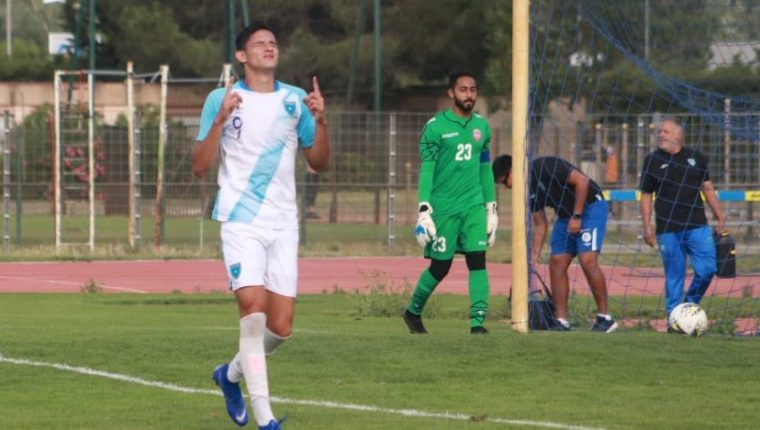 José Carlos Martínez fue la carta goleadora de Guatemala en el último juego. (Foto Prensa Libre: Fedefut)