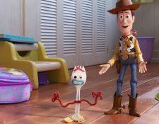 Forky es uno de los nuevos personajes de Toy Story 4. (Foto Prensa Libre: Disney).