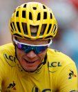 El ciclista británico Christopher Froome, en una foto de archivo durante el Tour de Francia 2017. (Foto Prensa Libre: EFE)