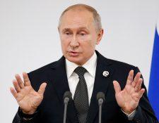 El presidente ruso Vladimir Putin se refirió al tema de la identidad de género durante su estadía en Japón, donde participó en el G20. (Foto Prensa Libre: EFE)