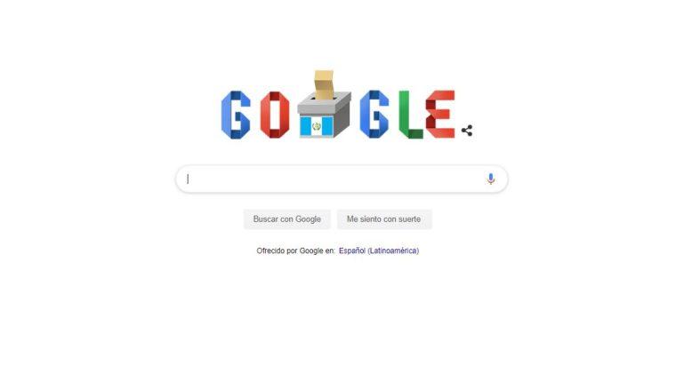 """Este es el """"doodle"""" que Google le dedicó a Guatemala este 16 de junio de 2019. (Foto Prensa Libre: Google)."""