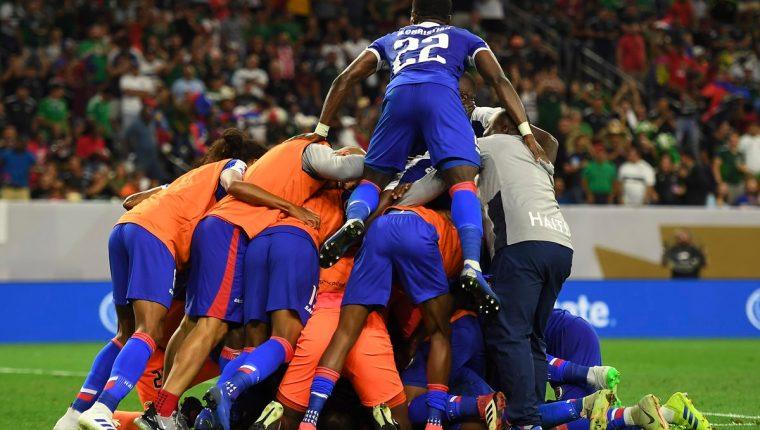 El combinado de Haití pasó a semifinales tras sorprender a Canadá. (Foto Prensa Libre: Copa Oro 2019)