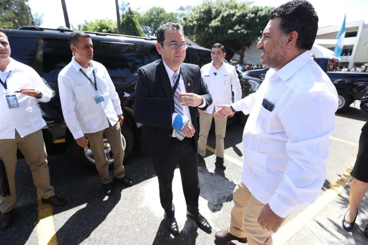 Pese a insinuar fraude electoral en varias ocasiones, Jimmy Morales ahora evita hablar de este tema
