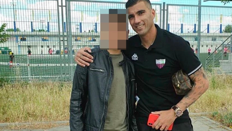 José Antonio Reyes junto a su hijo mayor que juega en las inferiores del Leganés. (Foto Prensa Libre: Instagram josereyeslopez)