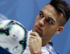 El jugador Lautaro Martínez de Argentina ha refrescado la ofensiva albiceleste. (Foto Prensa Libre: EFE)