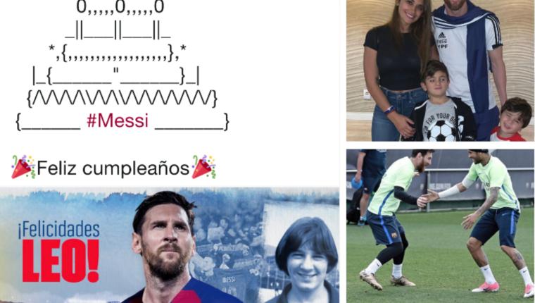 Lionel Messi cumple 32 años y el mundo del futbol lo celebra. (Foto Prensa Libre: Redes)