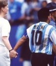 Diego Armando Maradona jugó su último partido con Argentina en el Mundial de Estados Unidos 1994. Ese año fue suspendido por dopaje. (Foto Prensa Libre: Internet).