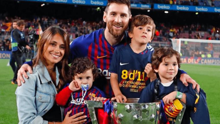 Mateo, hijo de Lionel Messi, se hace fan del Liverpool y el Valencia para molestar a su padre