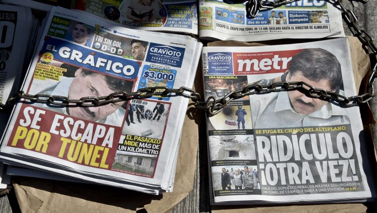 El Chapo protagonizó dos espectaculares fugas en México. (Foto Prensa Libre: AFP)
