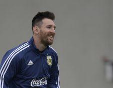 Lionel Messi vive nuevos aires con la Selección además de ser el maximo artillero de la Champions. (Foto Prensa Libre: AFP)