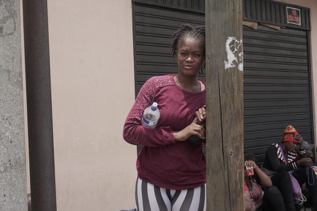 Nayira espera llegar con su hijo de 3 meses y su esposo a Estados Unidos. Foto Prensa Libre: Luisa Laguardia