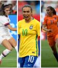 El Mundial Femenino llega con muchas estrellas. (Foto Prensa Libre: EFE y AFP)