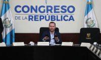 Alvaro Arzu Escobar, presidente del Congreso, en reuni—n de jefes y sub jefes de Bloque la cual se suspendi— por falta de falta de qu—rum.   Fotograf'a. Erick Avila:            04/06/2019