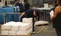 Tribunal Supremo Electoral imprime las boletas electorales en Edisur, zona 12.       Fotograf'a Esbin Garc'a 07-06-2019