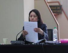 La jueza Erika Aifán durante una audiencia. (Foto Prensa Libre: Hemeroteca).