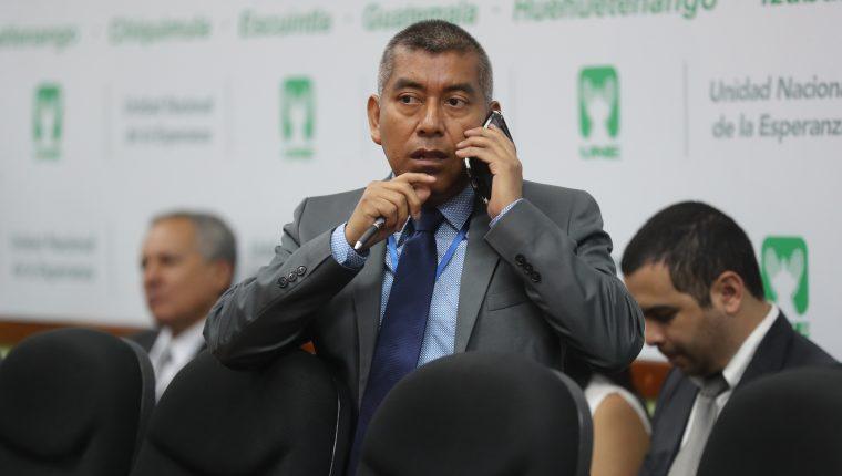 El fiscal del Ministerio Publico José Curruchiche durante una citación en el Congreso. (Foto Prensa Libre: Hemeroteca PL)