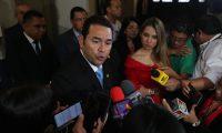 Jimmy Morales, presidente de la repœblica en declaraciones a los medios de comunicaci—n.       Fotograf'a Esbin Garc'a  13-06-2019