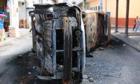Pobladores de San Antonio Ilotenanto en QuichŽ, incendiaron la sede de la UNE as' como veh'culos y propiedades del actual alcalde. Carlos L—pez Gir—n es uno de los caciques ca'dos que gobernaron por largos a–os  en quichŽ   foto por Carlos Hern‡ndez Ovalle 20/06/2019