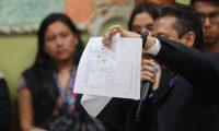 Reunion de fiscales de partidos politicos y magistrados del Tribunal Supremo Electoral  para analizar el tema de la revisión de actas (Foto Prensa Libre: Érick Avila)                       25/06/2019