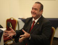 Alejandro Giammattei, candidato presidencial por el partido Vamos. (Foto Prensa Libre: Esbin García)