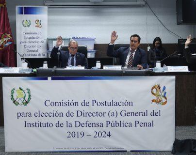 Comisi—n de Postulaci—n para elecci—n de Director(a)  del Instituto de la Defensa Pœblica Penal (IDPP)         Fotograf'a Esbin Garc'a  25-06-2019