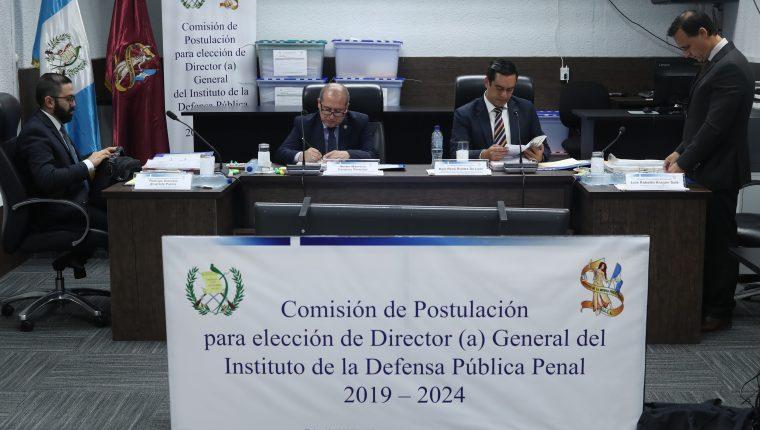 Comisión de Postulación para elección de Director(a)  del Instituto de la Defensa Pública Penal (IDPP). (Foto Prensa Libre: Hemeroteca PL)