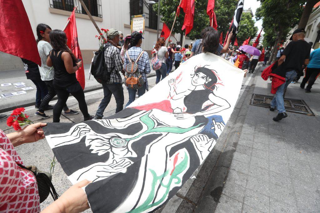 La marcha inició a las 10 de la mañana. Foto Prensa Libre: Óscar Rivas