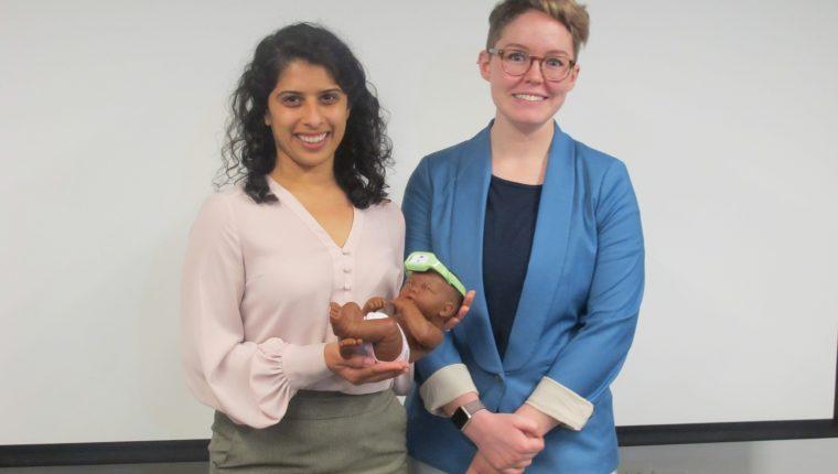 Neopenda, fundada por Sona Shah y Teresa Cauvel en 2015, trabajan en un dispositivo que puede ayudar a reducir la mortalidad infantil. (Foto Prensa Libre: Natiana Gándara)
