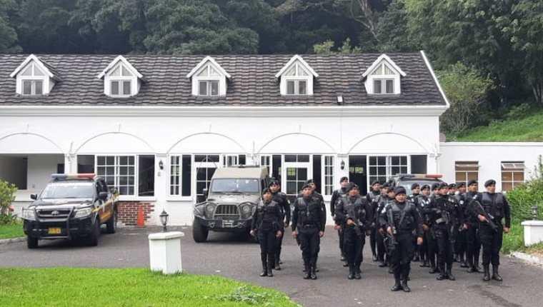 El hotel lujoso Casa Imperial o Jardín Inglés ubicado en Villa Canales fue remodelado para funcionar como sede de la PNC. (Foto Prensa Libre: Cortesía)