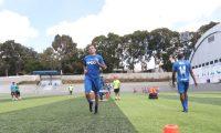 Marco Pablo Pappa, realiza su primer entrenamiento con el Deportivo Mixco, en el estadio Santo Domingo, el miércoles 26-6-2019. (Foto Prensa Libre: Francisco Sánchez).