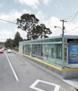 Diseño de una de  las estaciones para abordar el Transmetro que estará ubicada en el Anillo Periférico.(Foto: Hemeroteca PL)