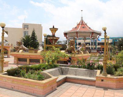 Parque José Ignacio Juárez, de San Marcos. (Foto Prensa Libre: Whitmer Barrera)