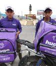 La mayor carga laboral de Hugo se concentra en los pedidos de comida. (Foto Prensa Libre: Mynor Toc)