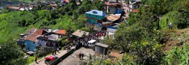 Vista del área urbana de San Mateo Ixtatán, donde se registró la retención y agresión el lunes 18 de junio. (Foto Prensa Libre).