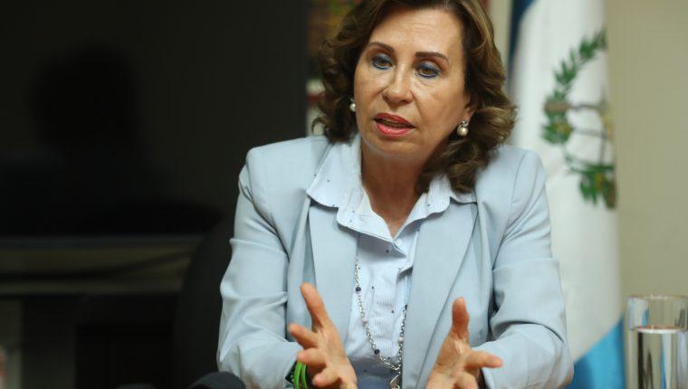 Sandra Torres, candidata a la presidencia por el partido UNE. (Foto Prensa Libre: Esbin García)