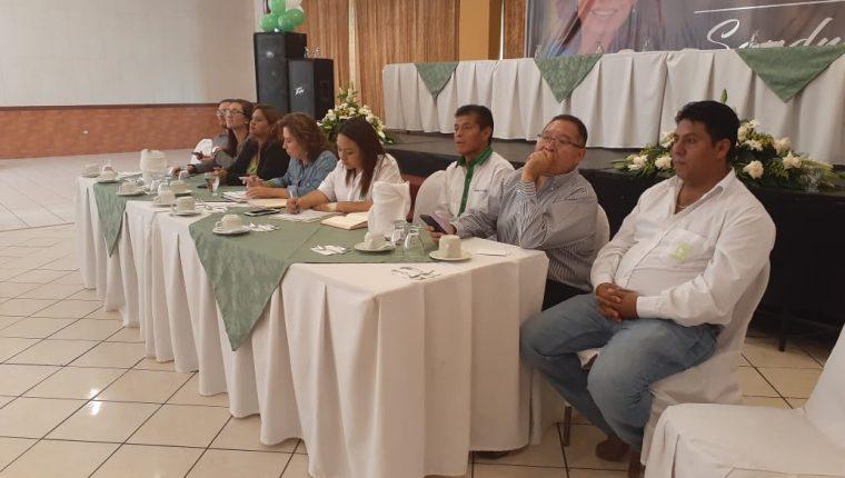 Sandra Torres se reunió con representantes de su partido en Huehuetenango. (Foto Prensa Libre: Mike Castillo)