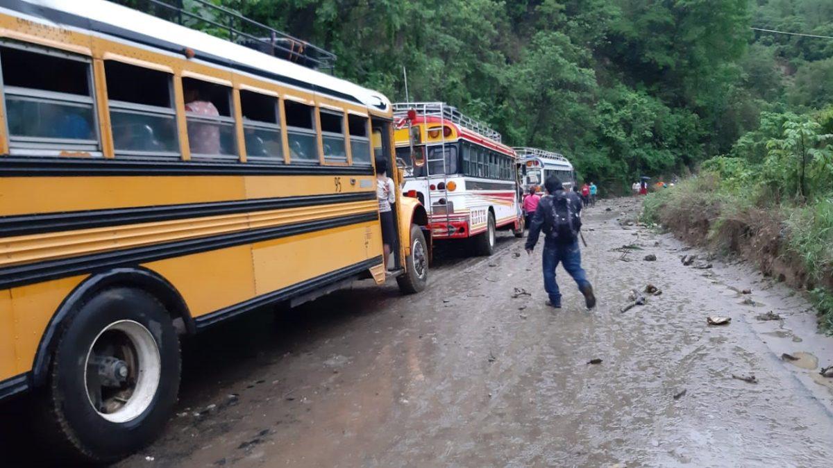 Sololá queda con severos daños en carreteras debido a la lluvia