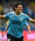 El delantero uruguayo Edinson Cavani defiende el VAR. Uruguay se medirá el próximo lunes contra Chile. (Foto Prensa Libre: AFP).