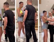 Un joven homosexual fue amenazado verbalmente por un hombre que pretendía que saliera de un restaurante de comida rápida. (Foto Prensa Libre: Twitter)