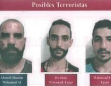 Ellos son los supuestos integrantes del Estado Islámico que fueron capturados en Nicaragua. (Foto Prensa Libre: Policía Nicaragua)