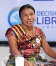 La candidata presidencial del Movimiento para la Liberación de los Pueblos, Thelma Cabrera, expuso susu planes en el programa SIn Filtro Electoral. (Foto Prensa Libre: Erick Ávila)