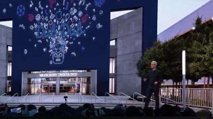 La Worldwide Developers Conference inicia con intervención de Tim Cook, consejero delegado de la compañía. (Foto Prensa Libre: Apple).