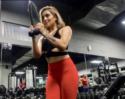 Mashory Palomo, entrenadora personal de Futeca Sport Gym Naranjo. (Foto Prensa Libre: Rebeca Wolff)