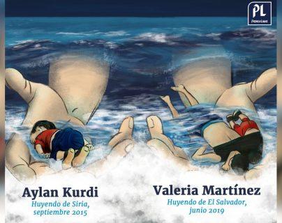 Los niños Aylan y Valeria son un ícono del drama de los menores migrantes. (Infografía Prensa Libre: Javier Amaya)