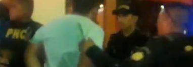 Captura de video publicado por la PNC.