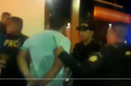 Captura de video publicado por la PNC.