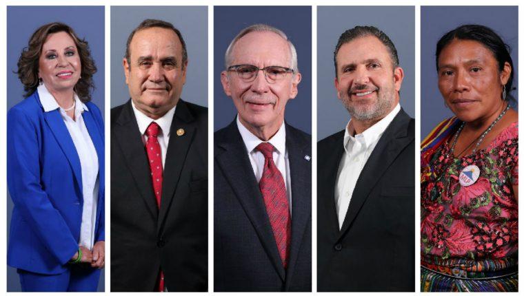 Estos son los 5 candidatos con mayor intención de voto, según la Encuesta Libre del 13 de junio de 2019. (Foto Prensa Libre: Hemeroteca)